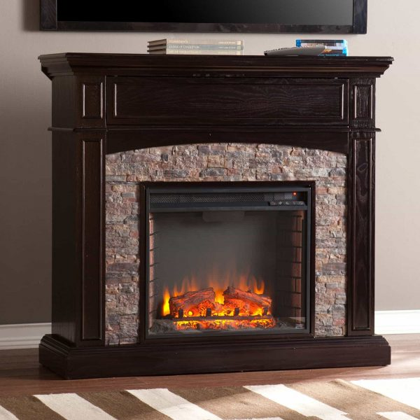 Southern Enterprises Grantham Corner Electric Fireplace 9