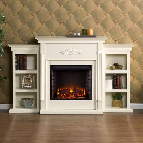 Southern Enterprises Griffin Electric Fireplace with Bookcases