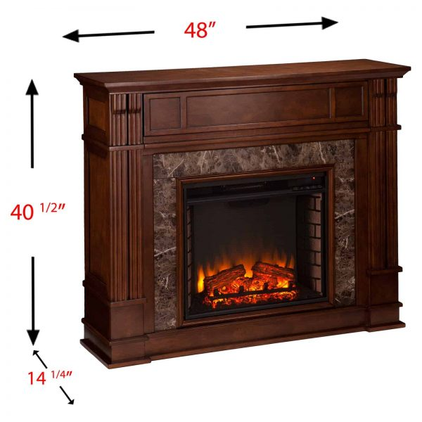 Southern Enterprises Highgate Electric Fireplace 7