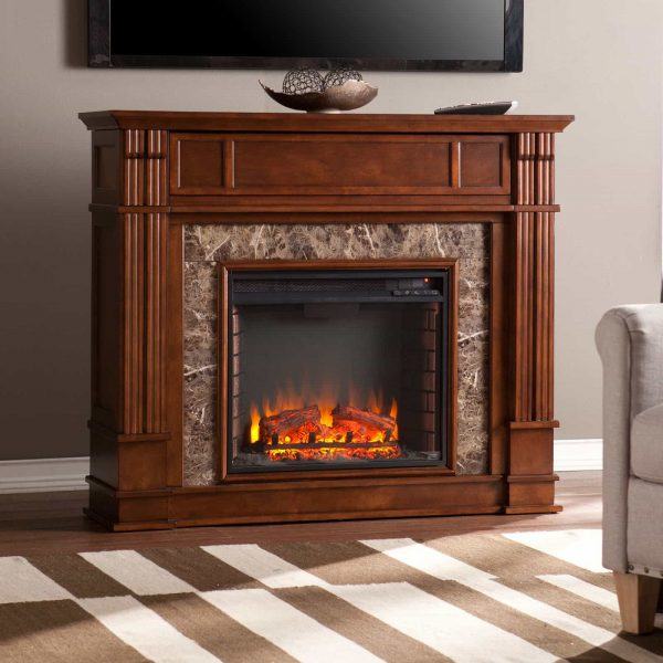 Southern Enterprises Highgate Electric Fireplace 9