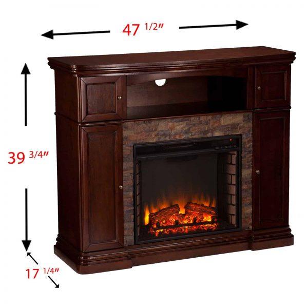 Southern Enterprises Hillcrest Electric Fireplace 5