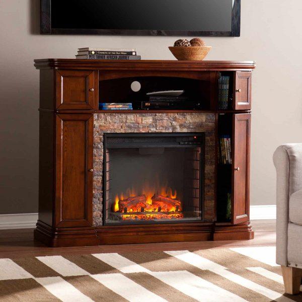Southern Enterprises Hillcrest Electric Fireplace 7
