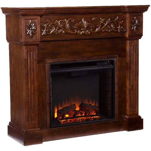 Southern Enterprises Jordan Electric Fireplace, Espresso 2