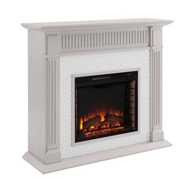 Southern Enterprises Livingvale Electric Tiled Fireplace 1