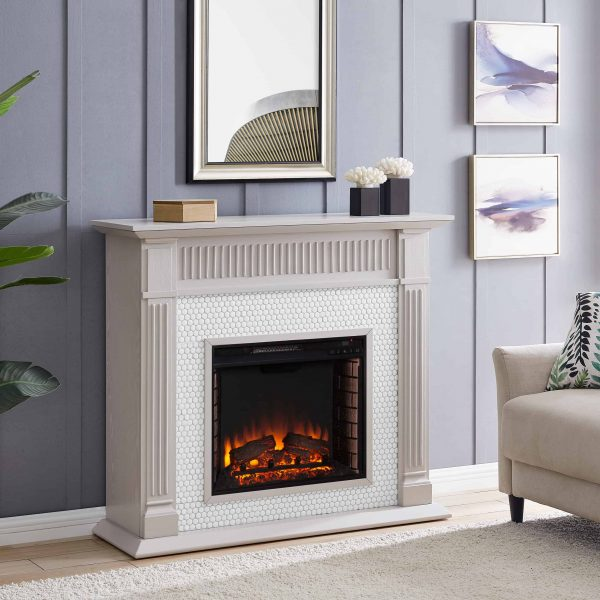 Southern Enterprises Livingvale Electric Tiled Fireplace 10