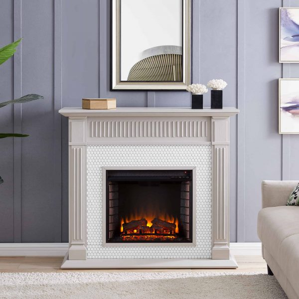 Southern Enterprises Livingvale Electric Tiled Fireplace 11
