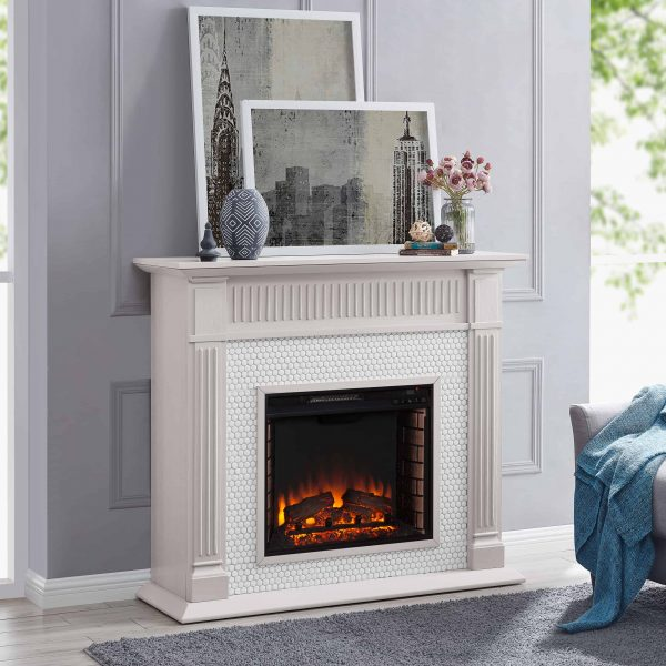 Southern Enterprises Livingvale Electric Tiled Fireplace 3