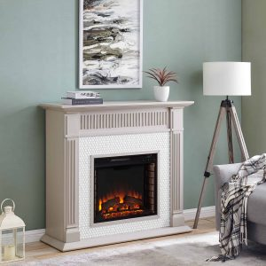 Southern Enterprises Livingvale Electric Tiled Fireplace