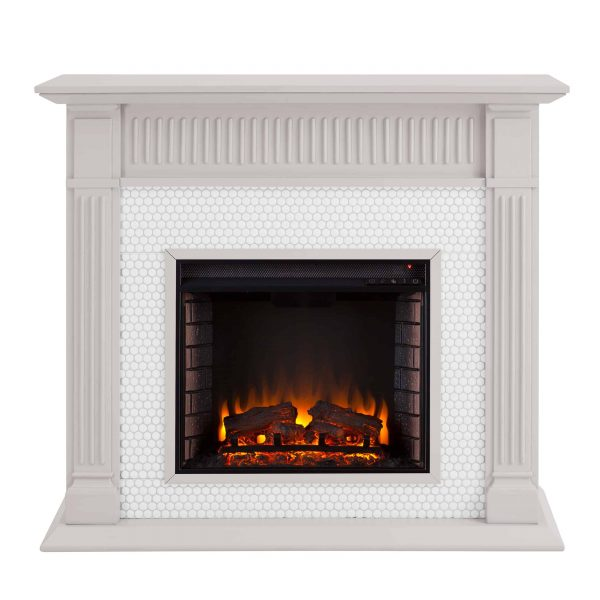 Southern Enterprises Livingvale Electric Tiled Fireplace 5