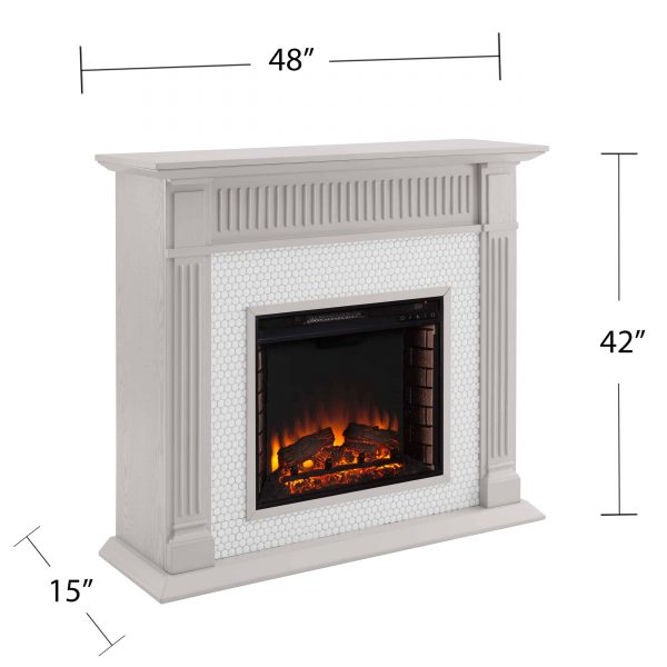 Southern Enterprises Livingvale Electric Tiled Fireplace 7