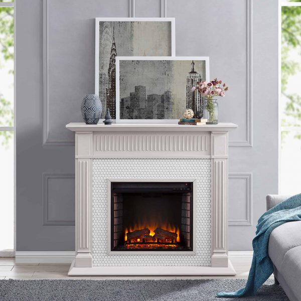 Southern Enterprises Livingvale Electric Tiled Fireplace 9