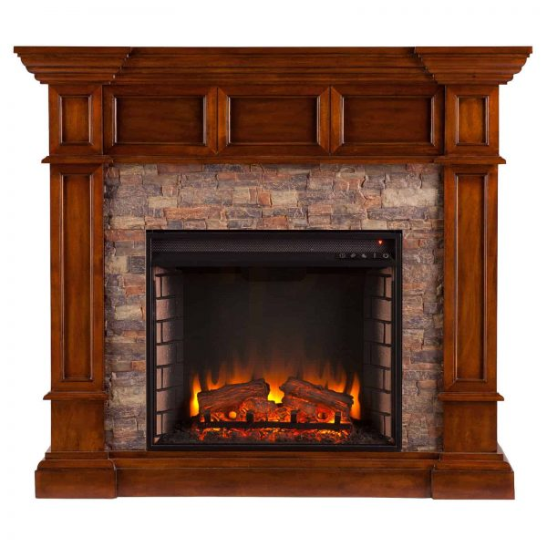 Southern Enterprises Merrimack Convertible Electric Fireplace 1