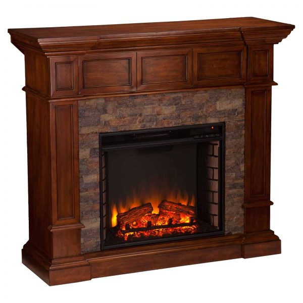 Southern Enterprises Merrimack Convertible Electric Fireplace 2