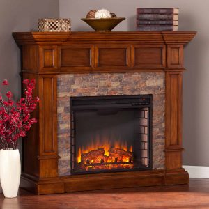 Southern Enterprises Merrimack Convertible Electric Fireplace