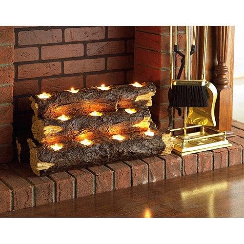 Southern Enterprises Resin Tealight Fireplace Log 1