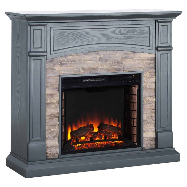 Southern Enterprises Seneca Electric Fireplace - Gray 1