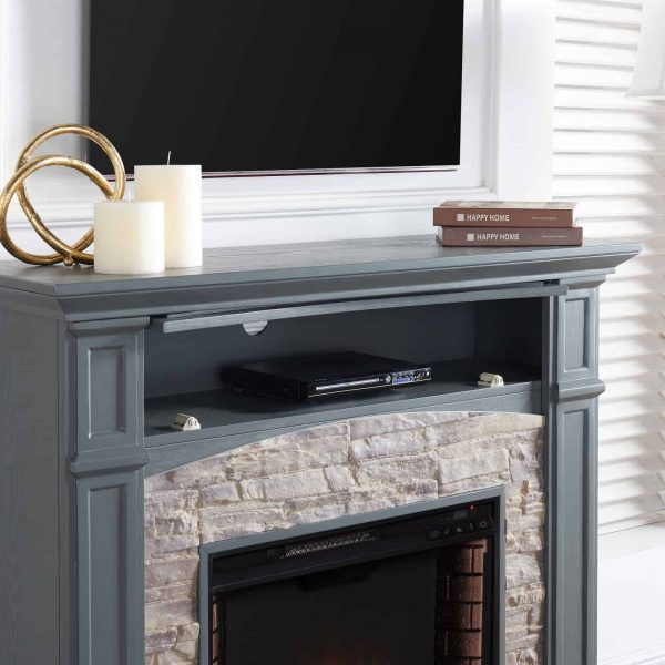 Southern Enterprises Seneca Electric Fireplace - Gray 3