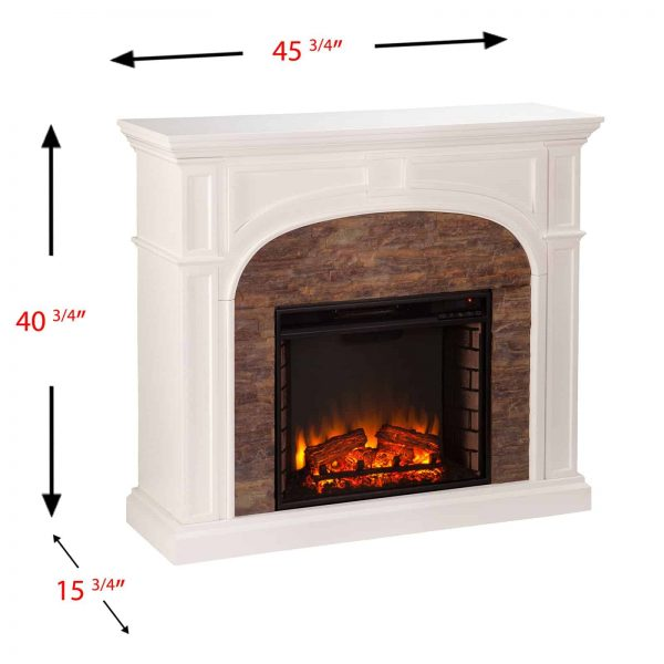 Southern Enterprises Tanaya Electric Fireplace 3