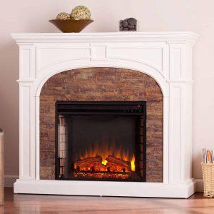 Southern Enterprises Tanaya Electric Fireplace