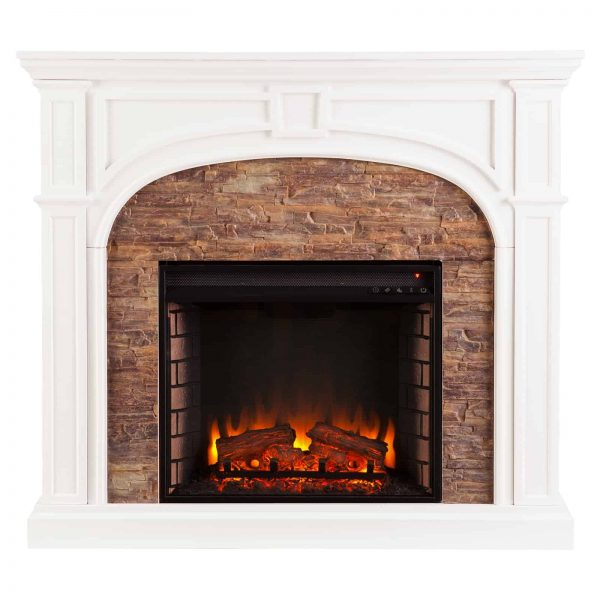Southern Enterprises Tanaya Electric Fireplace 5