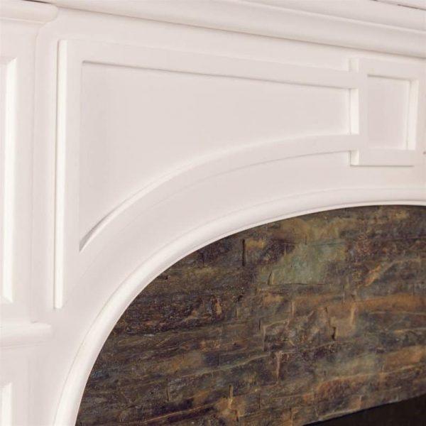 Southern Enterprises Tanaya Faux Stone Electric Fireplace in White 2