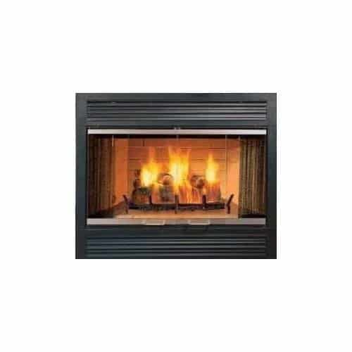"""Sovereign Series SA42R 42"""" Radiant Wood Burning Fireplace with Traditional Brick Interior"""