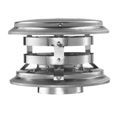 Stainless Steel Vertical Cap - 4""