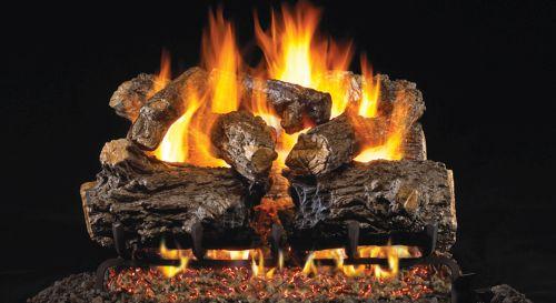Standard Burnt Rustic Oak Gas Logs- 24 Inch