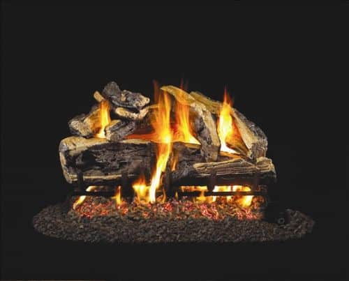 Standard Charred Rugged Split Oak Gas Logs - 24 Inch