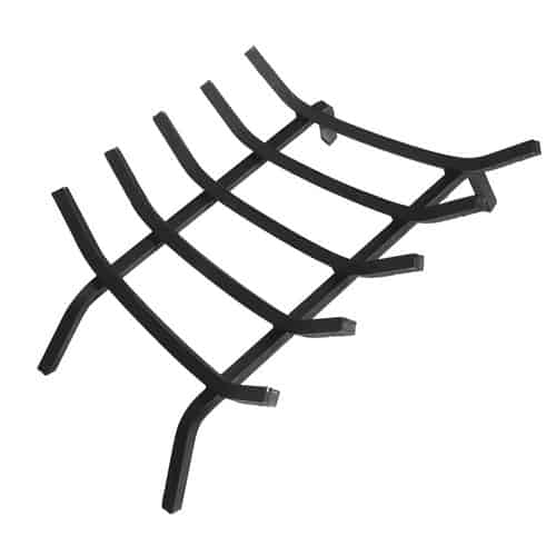 Steel Fireplace Grate w 5 Bars - 23 inches Length