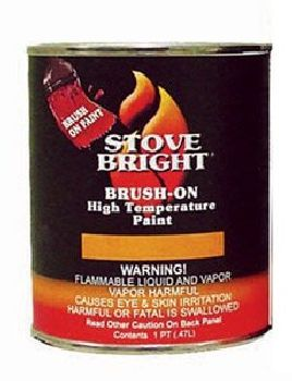 Stove Bright Metallic Black Brush - On 1200 Degree Paint - pint