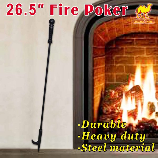 """Strong Camel Campfire Fireplace Fire Poker Tool Extra Long 26.5"""""""
