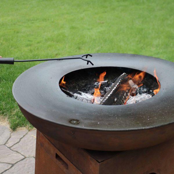 Sunnydaze Fire Pit Poker Stick with Heat Resistant Handle