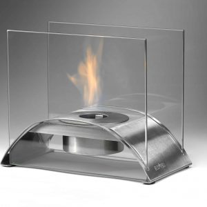 Sunset Table Top Fireplace in Stainless Steel