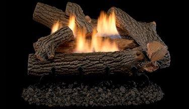 """Superior 24"""" Crescent Hill VF Gas Log Set with VD1824 Millivolt Burner - LP"""