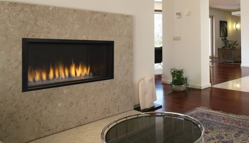 "Superior 43"" Contemporary Direct Vent Electronic Ignition Linear Fireplace with Lights - Natural Gas"