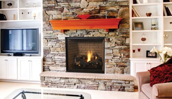 """Superior Fireplaces DRT6340TEN 40"""" Electronic Ignition Top Vent Louverless Fireplace - Natural Gas"""