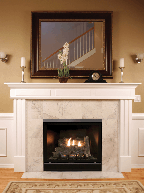 """Tahoe Clean Face Direct Vent MV Deluxe 42"""" LP Fireplace with Blower 1"""