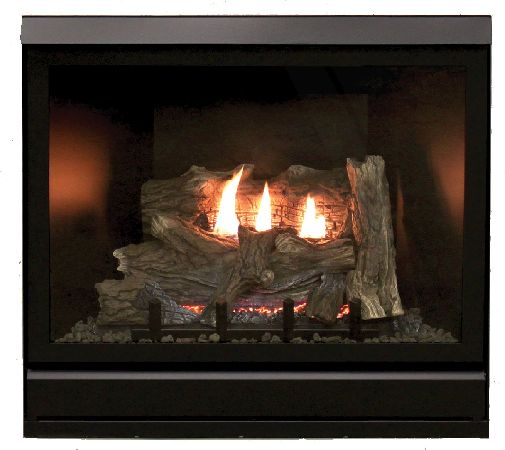 """Tahoe Clean Face Direct Vent MV Deluxe 42"""" LP Fireplace with Blower"""