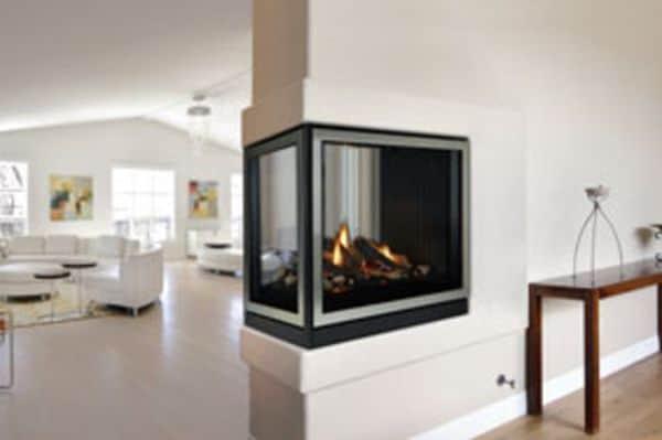 Tahoe Premium 36 Clean Face DV IP Peninsula Fireplace - Natural Gas