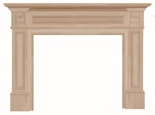 """The Classique 56"""" Fireplace Mantel Unfinished"""