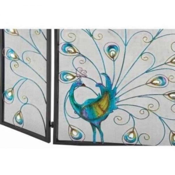 The Colorful Metal Fireplace Screen 1