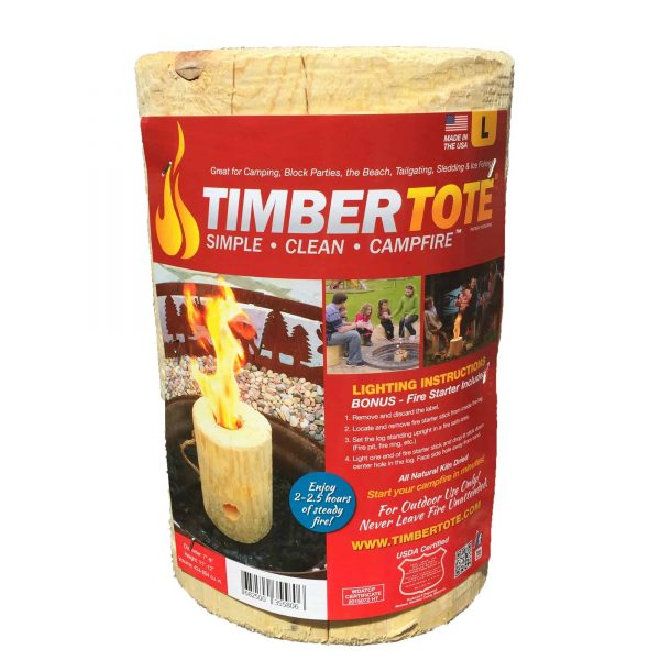TimberTote Large 12x8 Inch One Log Campfire Camping Cooking Camp Fire Wood Log 1