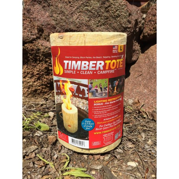 TimberTote Large 12x8 Inch One Log Campfire Camping Cooking Camp Fire Wood Log 2