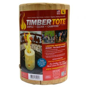 TimberTote Large 12x8 Inch One Log Campfire Camping Cooking Camp Fire Wood Log