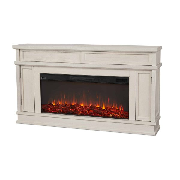 Torrey Electric Fireplace in Bone White by Real Flame 1