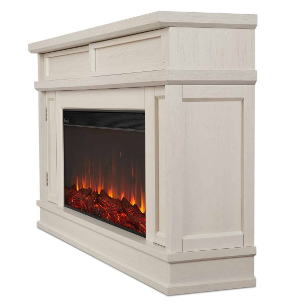Torrey Electric Fireplace in Bone White by Real Flame 2