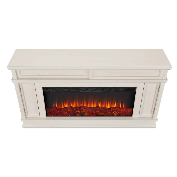 Torrey Electric Fireplace in Bone White by Real Flame 3