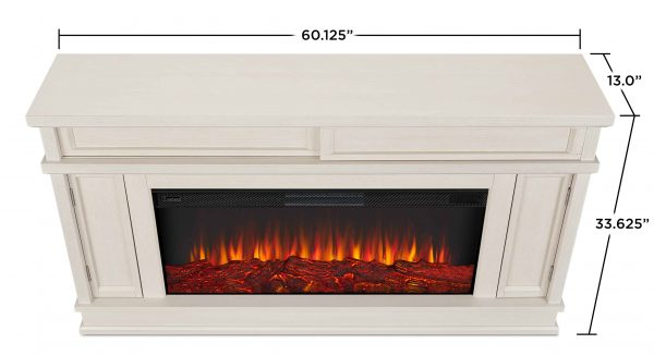Torrey Electric Fireplace in Bone White by Real Flame 4