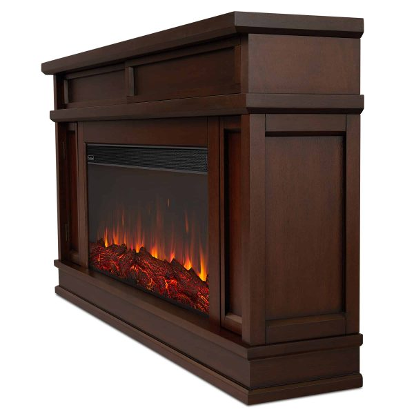 Torrey Electric Fireplace in Dark Walnut by Real Flame 1